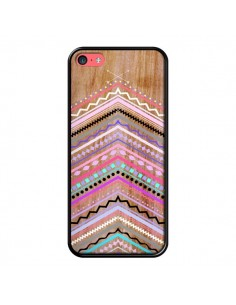 Coque Purple Chevron Wild Wood Bois Azteque Aztec Tribal pour iPhone 5C - Jenny Mhairi