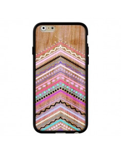 Coque Purple Chevron Wild Wood Bois Azteque Aztec Tribal pour iPhone 6 - Jenny Mhairi