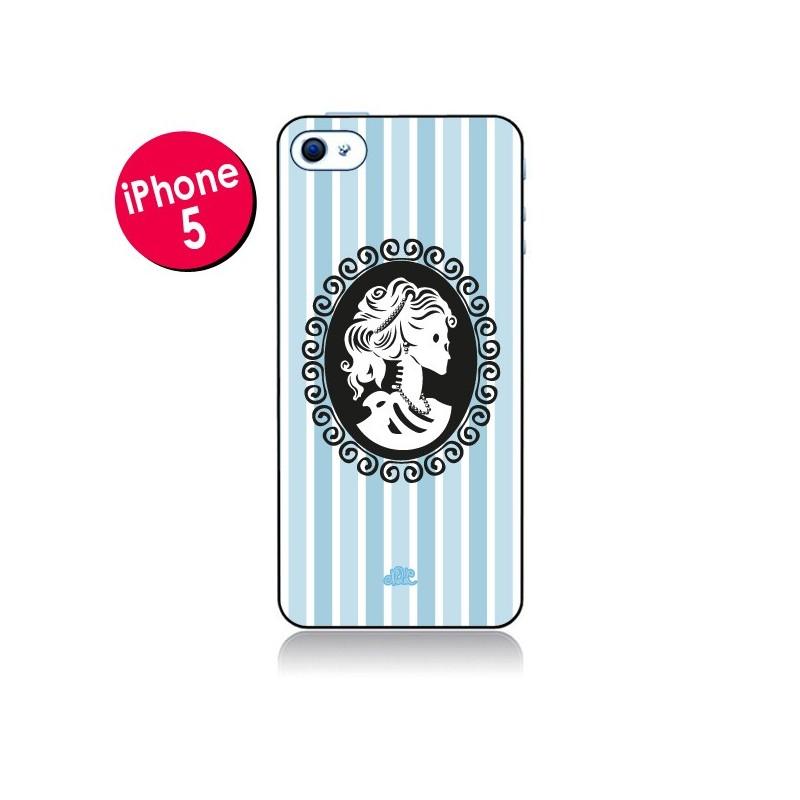 Coque Camée Squelette Bleue pour iPhone 5