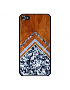 Coque Sequin Geometry Bois Azteque Aztec Tribal pour iPhone 4 et 4S - Jenny Mhairi