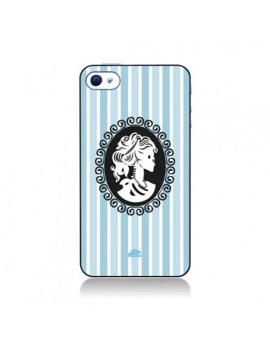 Coque Camée Squelette Bleue pour iPhone 4 et 4S