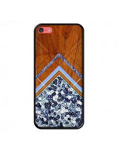Coque Sequin Geometry Bois Azteque Aztec Tribal pour iPhone 5C - Jenny Mhairi