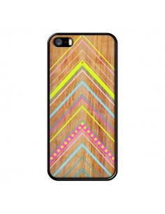Coque Wooden Chevron Pink Bois Azteque Aztec Tribal pour iPhone 5 et 5S - Jenny Mhairi