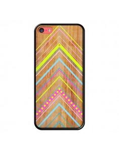 Coque Wooden Chevron Pink Bois Azteque Aztec Tribal pour iPhone 5C - Jenny Mhairi
