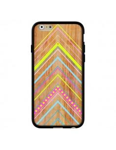 Coque Wooden Chevron Pink Bois Azteque Aztec Tribal pour iPhone 6 - Jenny Mhairi