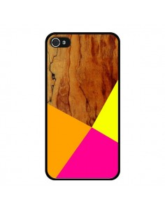 Coque Wooden Colour Block Bois Azteque Aztec Tribal pour iPhone 4 et 4S - Jenny Mhairi