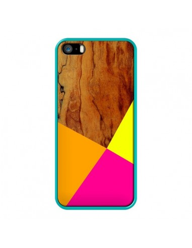 Coque Wooden Colour Block Bois Azteque Aztec Tribal pour iPhone 5 et 5S - Jenny Mhairi