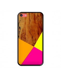 Coque Wooden Colour Block Bois Azteque Aztec Tribal pour iPhone 5C - Jenny Mhairi