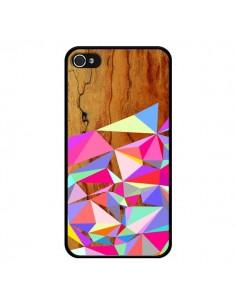 Coque Wooden Multi Geo Bois Azteque Aztec Tribal pour iPhone 4 et 4S - Jenny Mhairi