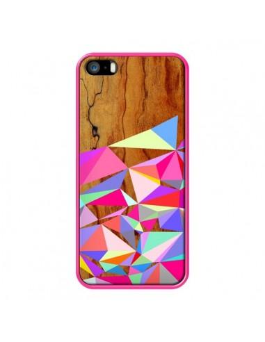 Coque Wooden Multi Geo Bois Azteque Aztec Tribal pour iPhone 5 et 5S - Jenny Mhairi