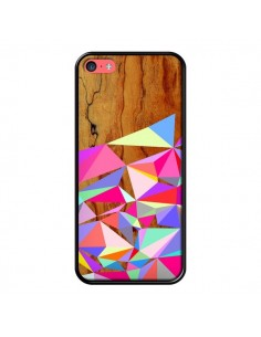 Coque Wooden Multi Geo Bois Azteque Aztec Tribal pour iPhone 5C - Jenny Mhairi