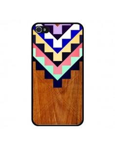 Coque Wooden Tribal Bois Azteque Aztec Tribal pour iPhone 4 et 4S - Jenny Mhairi