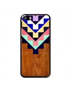 Coque Wooden Tribal Bois Azteque Aztec Tribal pour iPhone 5 et 5S - Jenny Mhairi