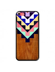 Coque Wooden Tribal Bois Azteque Aztec Tribal pour iPhone 5C - Jenny Mhairi