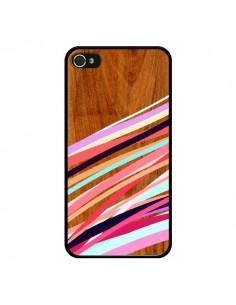 Coque Wooden Waves Coral Bois Azteque Aztec Tribal pour iPhone 4 et 4S - Jenny Mhairi