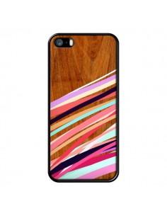 Coque Wooden Waves Coral Bois Azteque Aztec Tribal pour iPhone 5 et 5S - Jenny Mhairi