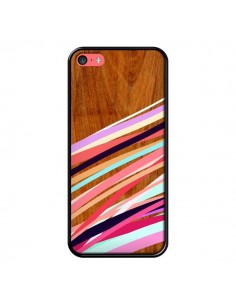 Coque Wooden Waves Coral Bois Azteque Aztec Tribal pour iPhone 5C - Jenny Mhairi