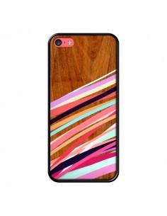 Coque Wooden Waves Coral Bois Azteque Aztec Tribal pour iPhone 5C - Jenny Mhairi