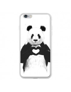 Coque Panda Amour All you need is love pour iPhone 6 Plus - Balazs Solti