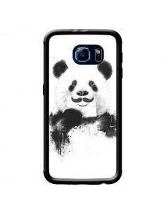 Coque Funny Panda Moustache Movember pour Samsung Galaxy S6 - Balazs Solti