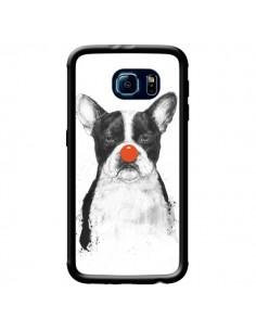 Coque Clown Bulldog Chien Dog pour Samsung Galaxy S6 - Balazs Solti