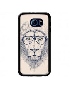 Coque Cool Lion Lunettes pour Samsung Galaxy S6 - Balazs Solti