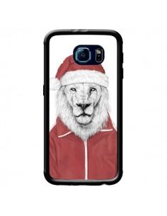 Coque Santa Lion Père Noel pour Samsung Galaxy S6 - Balazs Solti