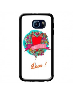 Coque Love Happy Life pour Samsung Galaxy S6 - Leellouebrigitte