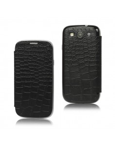 Flip Case Croco Cache Batterie pour Samsung Galaxy S3
