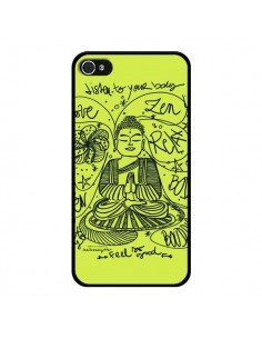 Coque Buddha Listen to your body Love Zen Relax pour iPhone 4 et 4S - Leellouebrigitte