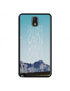 Coque Silence speaks when words can't paysage pour Samsung Galaxy Note III - Eleaxart