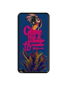 Coque Give me a summer to remember souvenir paysage pour Samsung Galaxy Note III - Eleaxart