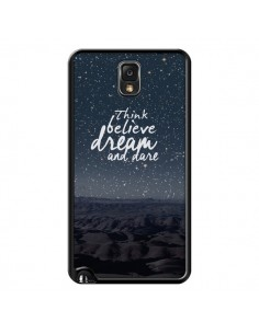 Coque Think believe dream and dare Pensée Rêves pour Samsung Galaxy Note III - Eleaxart