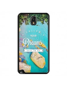 Coque Follow your dreams Suis tes rêves Islands pour Samsung Galaxy Note III - Eleaxart