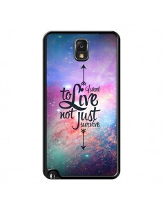 Coque I want to live Je veux vivre pour Samsung Galaxy Note III - Eleaxart