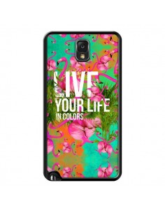 Coque Live your Life pour Samsung Galaxy Note III - Eleaxart