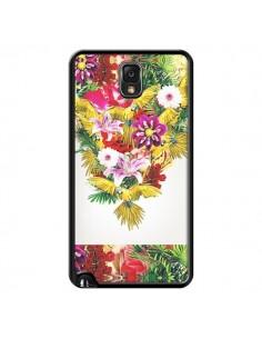 Coque Parrot Floral Perroquet Fleurs pour Samsung Galaxy Note III - Eleaxart