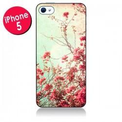 Coque Fleur Vintage Rose pour iPhone 5/5S et SE - Nico