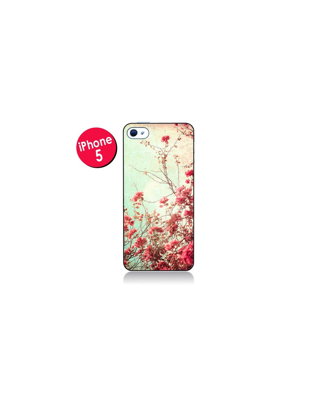 coque fleur vintage rose pour iphone 5. Black Bedroom Furniture Sets. Home Design Ideas