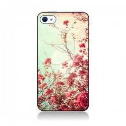Coque Fleur Vintage Rose pour iPhone 4 et 4S
