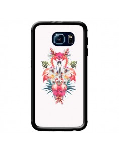 Coque Tropicales Flamingos Tropical Flamant Rose Summer Ete pour Samsung Galaxy S6 - Eleaxart