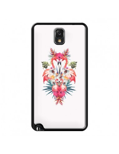 Coque Tropicales Flamingos Tropical Flamant Rose Summer Ete pour Samsung Galaxy Note III - Eleaxart