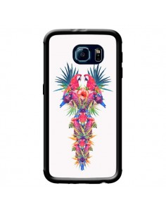Coque Parrot Kingdom Royaume Perroquet pour Samsung Galaxy S6 - Eleaxart