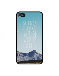 Coque Silence speaks when words can't paysage pour iPhone 4 et 4S - Eleaxart