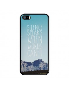 Coque Silence speaks when words can't paysage pour iPhone 5 et 5S - Eleaxart