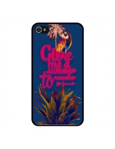 Coque Give me a summer to remember souvenir paysage pour iPhone 4 et 4S - Eleaxart