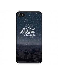 Coque Think believe dream and dare Pensée Rêves pour iPhone 4 et 4S - Eleaxart