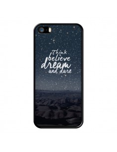 Coque Think believe dream and dare Pensée Rêves pour iPhone 5 et 5S - Eleaxart