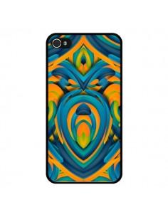 Coque Cross Heart Azteque Cœur pour iPhone 4 et 4S - Eleaxart