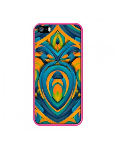 Coque Cross Heart Azteque Cœur pour iPhone 5 et 5S - Eleaxart